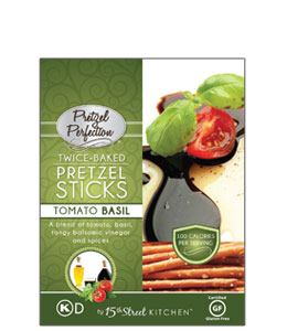 Pretzel Perfection Twice-Baked Tomato Basil Pretzel Sticks