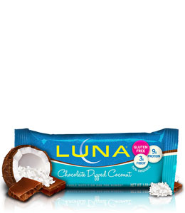 LUNA Chocolate Dipped Coconut Nutrition Bar